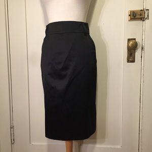 Banana republic silk blend w/ pockets skirt